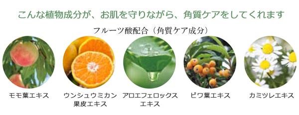 植物成分が、お肌を守りながら、角質ケアをしてくれます